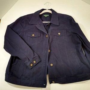 Plus Size Jean Jacket Ralph Lauren 2X